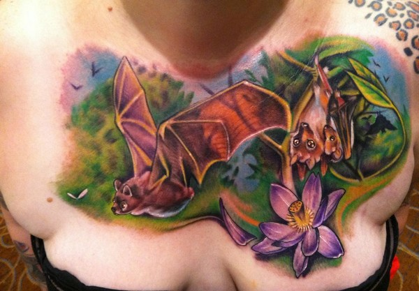 Bat-Chest-Tattoo