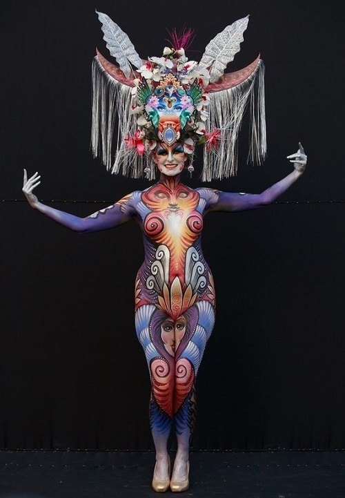Beautiful And Festive Body Paint Models