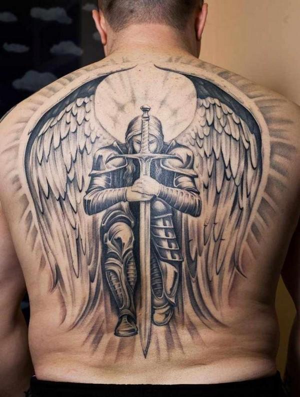 Beautiful Angel Back Tattoo