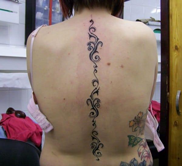 Beautiful Spine Tattoo