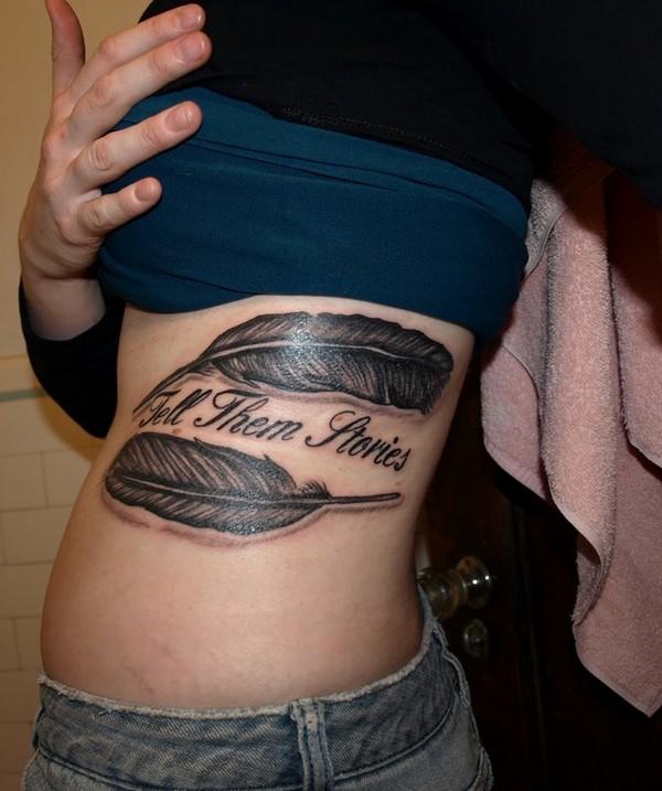 Cute Feather Tattoo