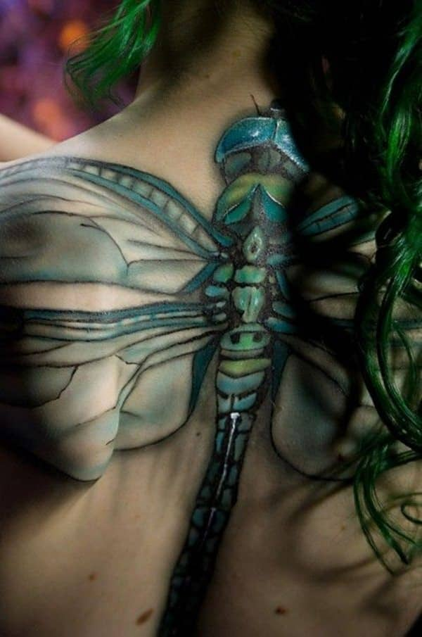 Dragonfly Spine Tattoos