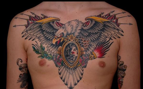 Eagle Tattoo On Chest