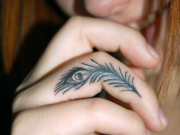 Exotic Finger Tattoo
