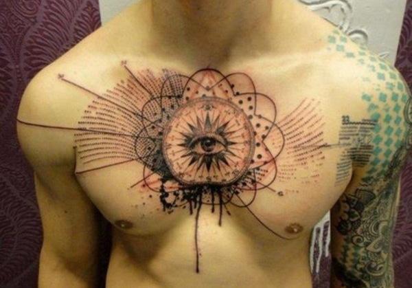Eye Chest Tattoos