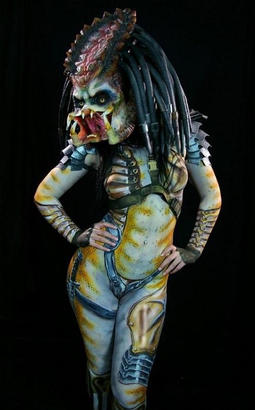 Female Predator Body Paint Model