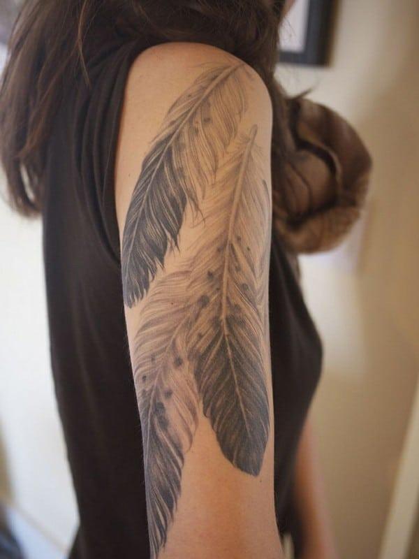 Flashy Feather Tattoo