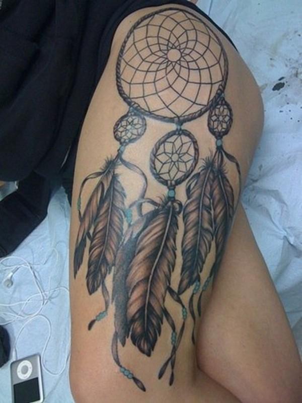 Flower Thigh Tattoos Designs