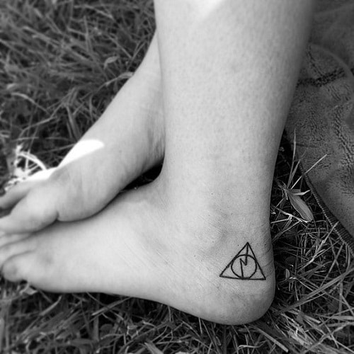 Foot Harry Potter Inspired Tattoo