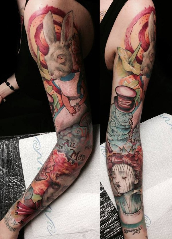 Full Sleeve Tattoos Women
