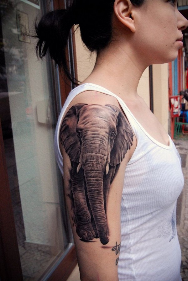 Half-Sleeve-Elephant-Tattoo