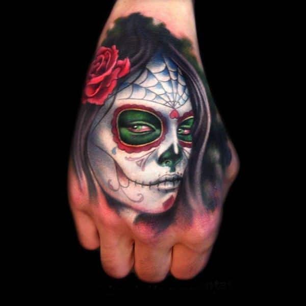 Hand Skull Tattoo Designs Ideas Picture Gallery