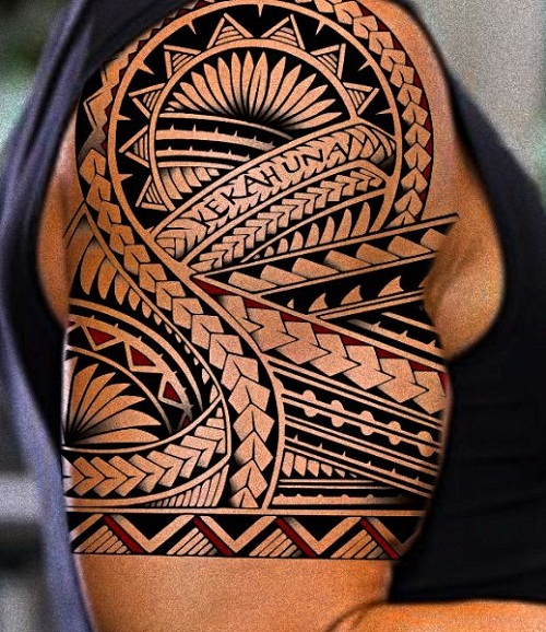 Kekahuna Shark Teeth Spear Head Polynesian Tattoo