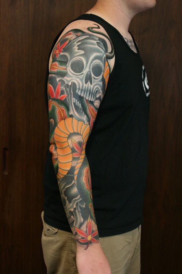 Nice Full Sleeve Tattoo