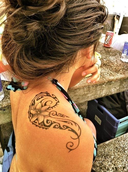 Ocean And Shark Teeth Polynesian Tattoo