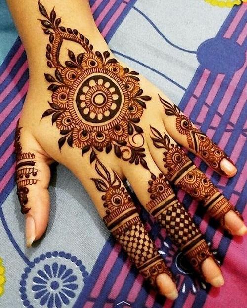 Cute and Attractive Arabic Mehndi Designs