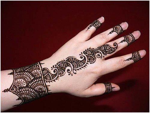 Dramatic Arabic Mehndi Designs