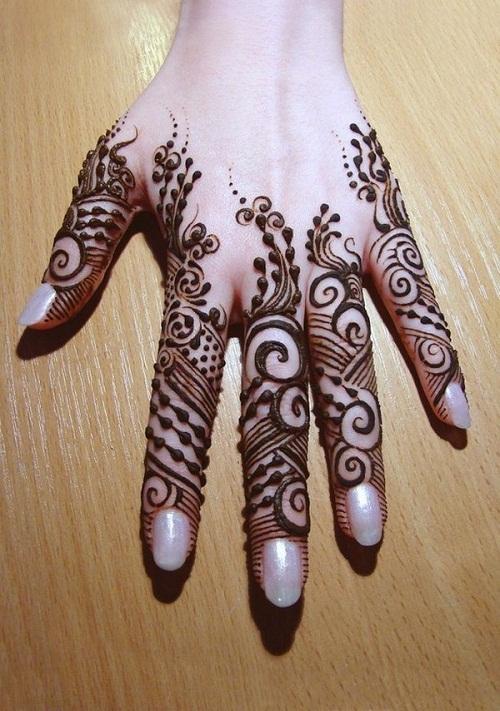 Exquisite Hand Arabic Mehndi Designs