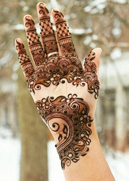 Leaves Flowers and Veils Arabic Mehndi Idea Designs