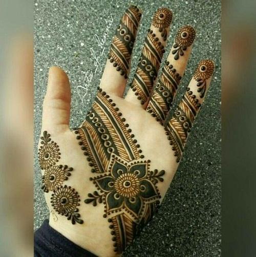 Special Palm Arabic Mehndi Designs