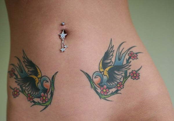 Birds Belly Piercing