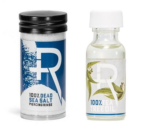 Recovery Piercing Aftercare Sea Salt And Tea Tree Oil Combo