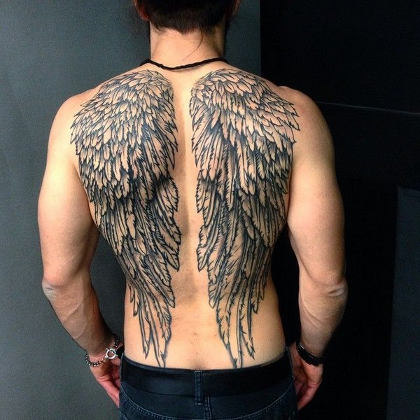 Angel Wings Tattoos On Back For Guys
