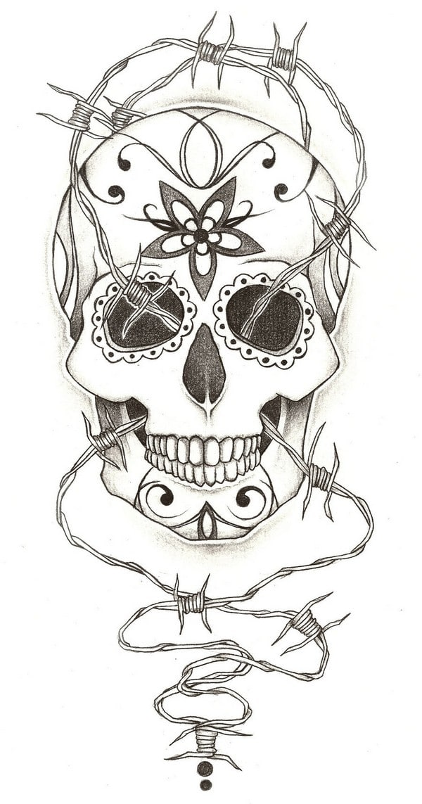 Girl Half Sleeve Tattoo Design