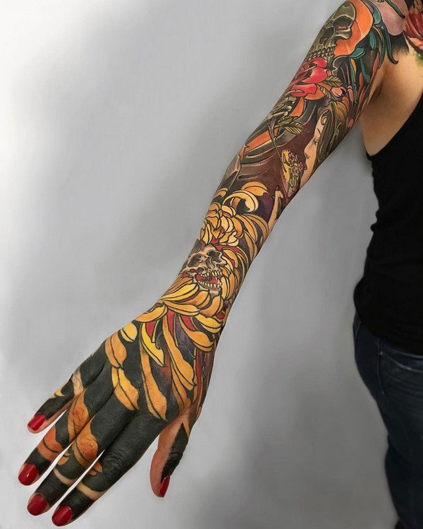 Top Arm Sleeve Tattoos Designs