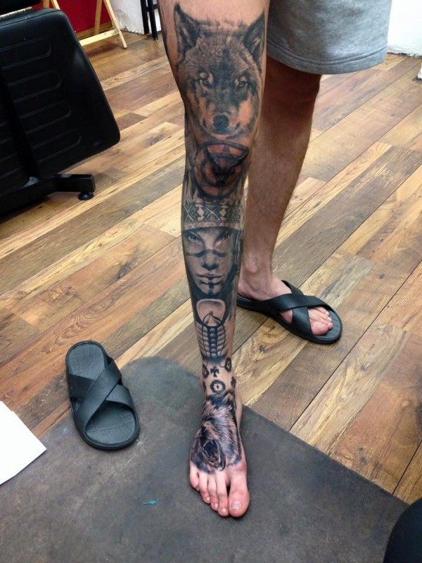 Leg Tattoos Guys