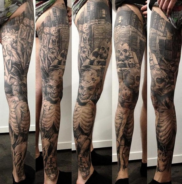 Leg Tattoos Small