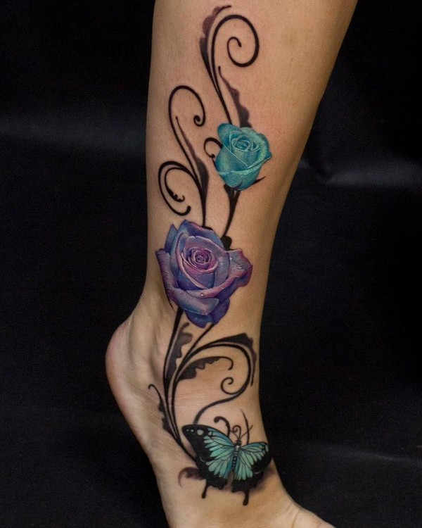 Leg Tattoos Womens