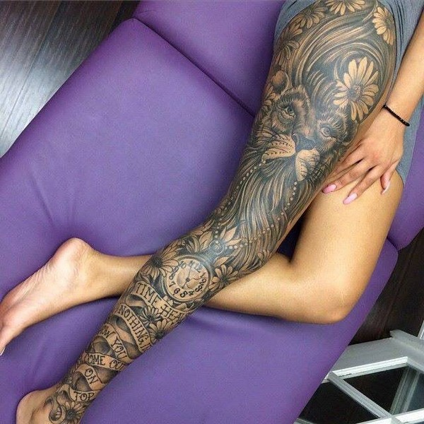 Small Leg Tattoos For Guys