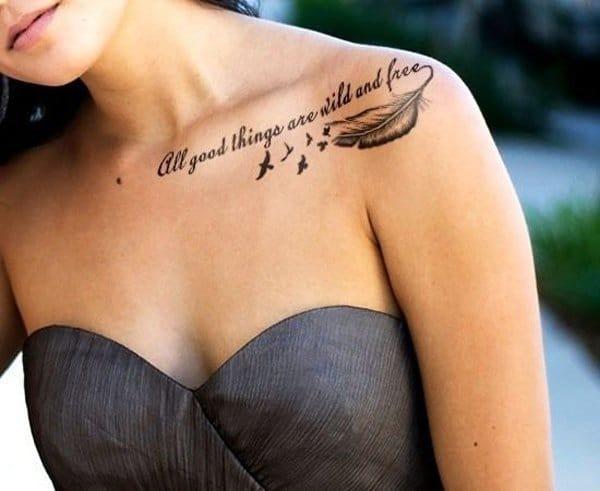 Collar Bone Tattoos Roman Numerals