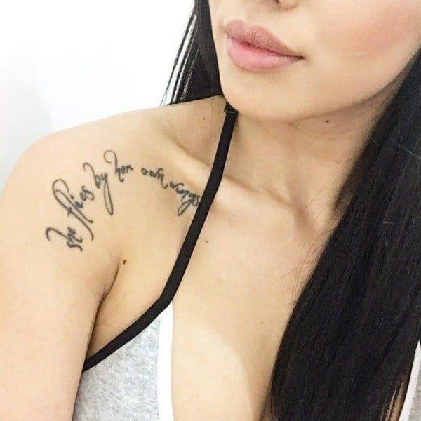 Collarbone Tattoo Flower