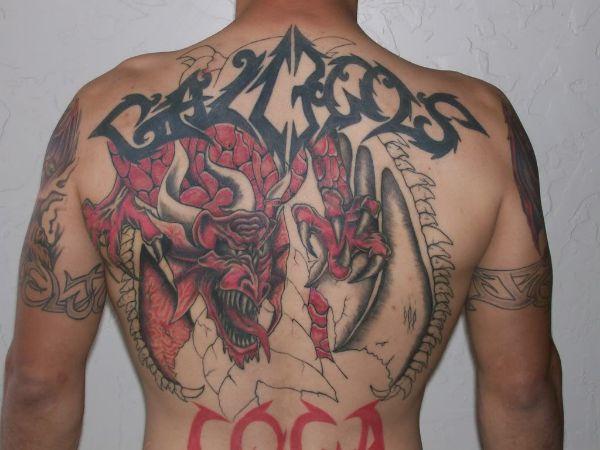 Back Dragon Tattoos Ideas