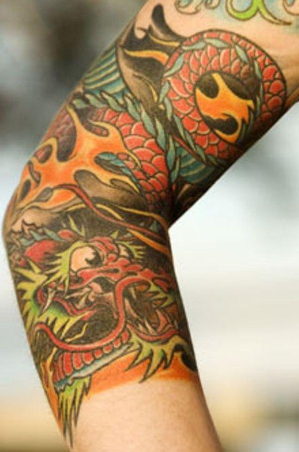 Dragon Sleeve Tattoos Ideas