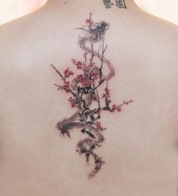 Dragon Tattoos Drawing On Back Ideas