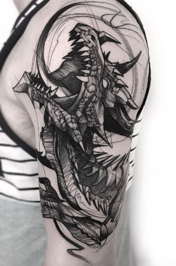 Dragon Tattoos Ideas Drawing Arm Meaning