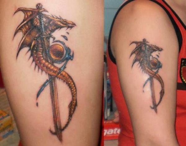 Dragon Tattoos Ideas Drawing Arm