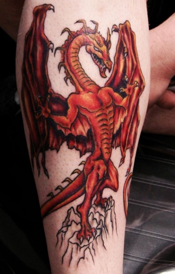 Dragon Tattoos Meaning Ideas Drawing On Thigh