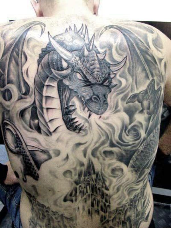 Dragon Tattoos On Back