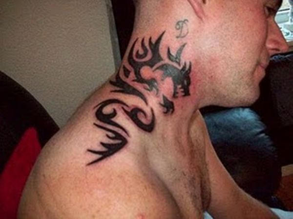 Dragon Tribal Tattoo Ideas Meaning Drawing