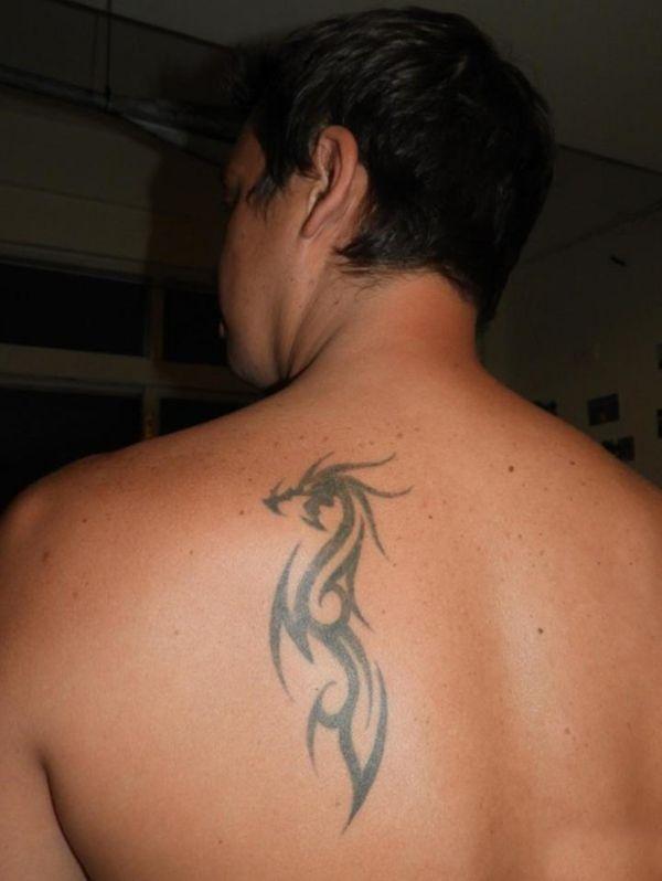 Dragon Tribal Tattoo On Back Ideas