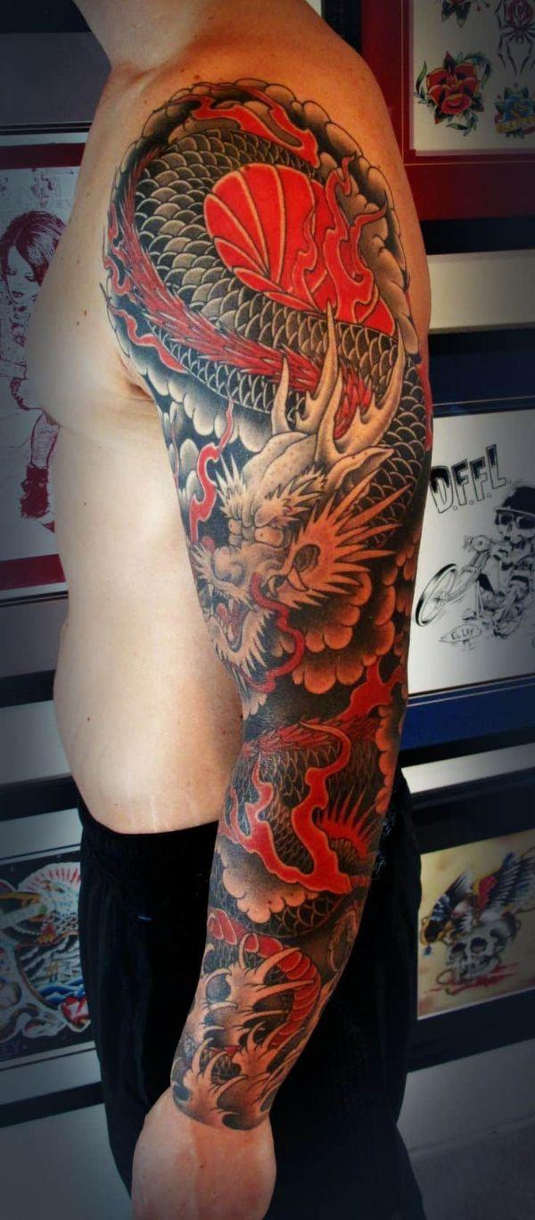 Japanese Dragon Tattoos Sleeve
