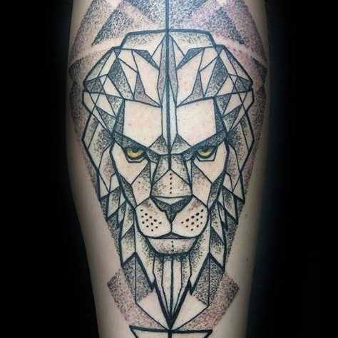 110 Unique Lion Tattoo Designs With Meaning 2019 Lion head geometric line illustration logo. unique lion tattoo designs with meaning