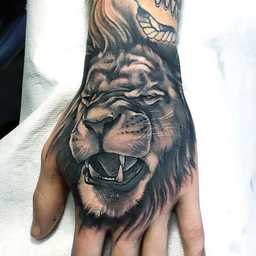 Lion Tattoo On Hand Meaning