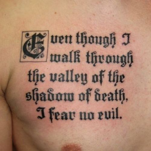 Old English Calligraphy Tattoo Font
