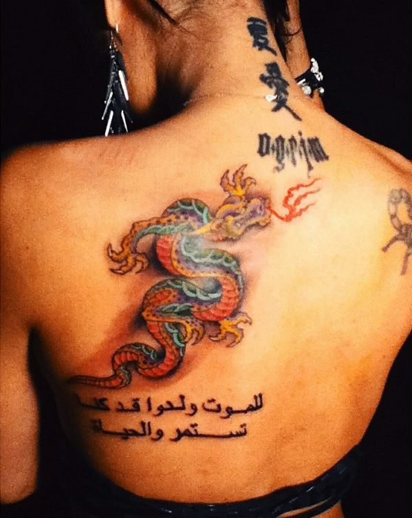 On Back Dragon Tattoo Ideas Drawing Meaning
