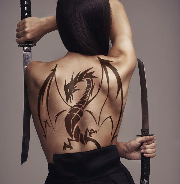 On Back Dragon Tattoo Ideas Drawing
